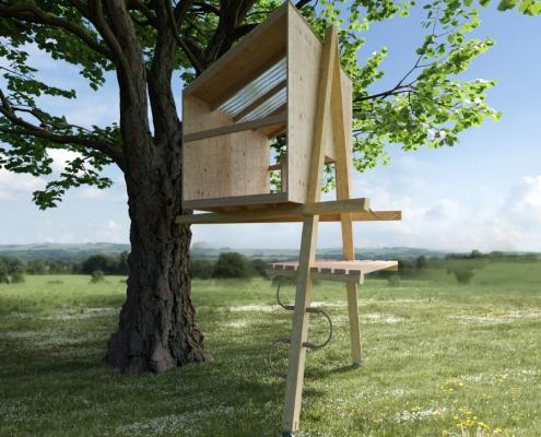 1-2-Tree Anlehnhaus 3D-Ansicht